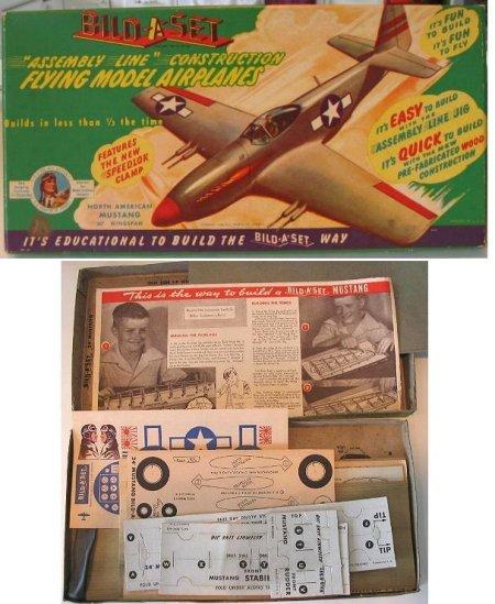 """Joe Ott """"Bild-A-Set"""" P-51 Box and Contents"""